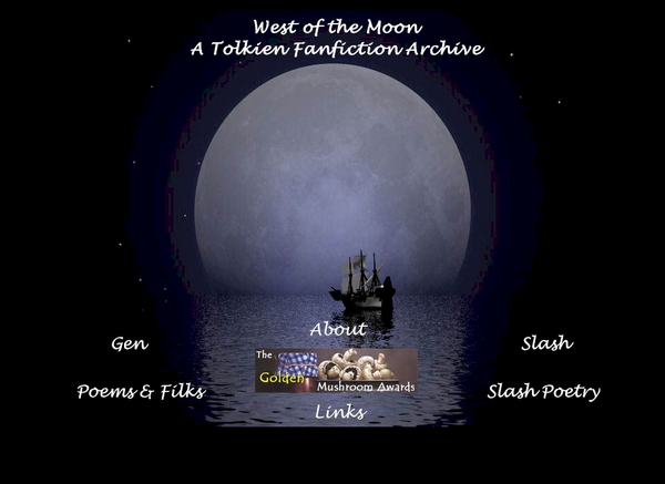 Screenshot da página inicial original do arquivo West of the Moon
