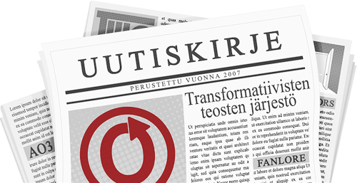 caitien tekemä banneri, jossa on kuva lehdestä, jonka sivuilla on logo OTW:stä ja sen projekteista.