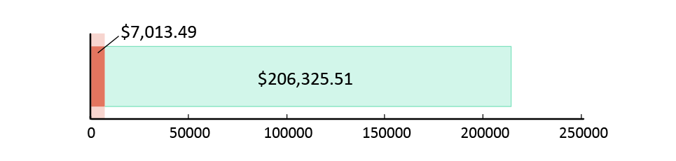 تم صرف 7,013.49  دولار أمريكي; تبقّى 206,325.51 دولار أمريكي