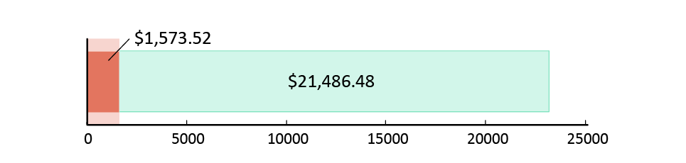 تم صرف 1,573.52 دولار أمريكي; تبقّى 21,486.48 دولار أمريكي