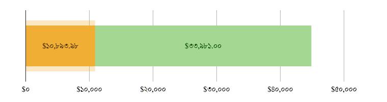 মার্কিন$১০,৮৯৩.৯৮ খরচ হয়েছে; মার্কিন$৩৩,৯৮১.০০ হাতে রয়েছে