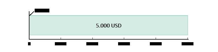 0 USD brugt; 5.000 USD tilbage