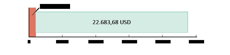 977,15 USD brugt; 22.683,68 USD tilbage
