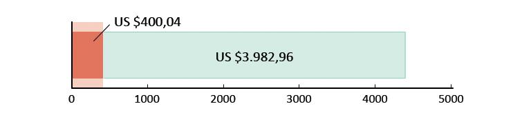 US $400,04 uitgegeven; US $3982,96 resterend