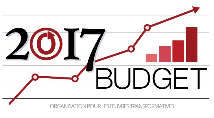 Budget 2017 de l'OTW