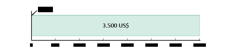 0 US$ ausgegeben; 3.500 US$ übrig