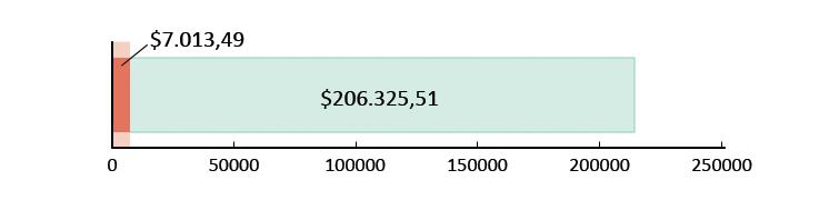 Ξοδεύτηκαν $7.013,49 και απομένουν $206.325,51