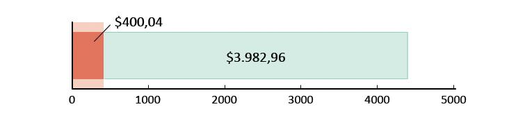 Ξοδεύτηκαν $400,04 και απομένουν $3.982,96