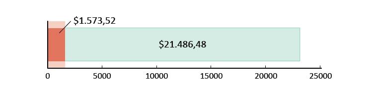 Ξοδεύτηκαν $ 1.573,52 και απομένουν $21.486,48