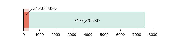 Izlietoti USD 312,61; atlikuši USD 7174,89