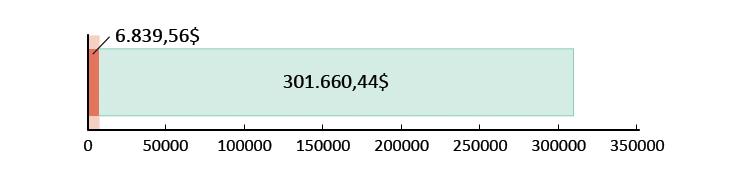 6.839.56$ doados; faltam 301.660,44$