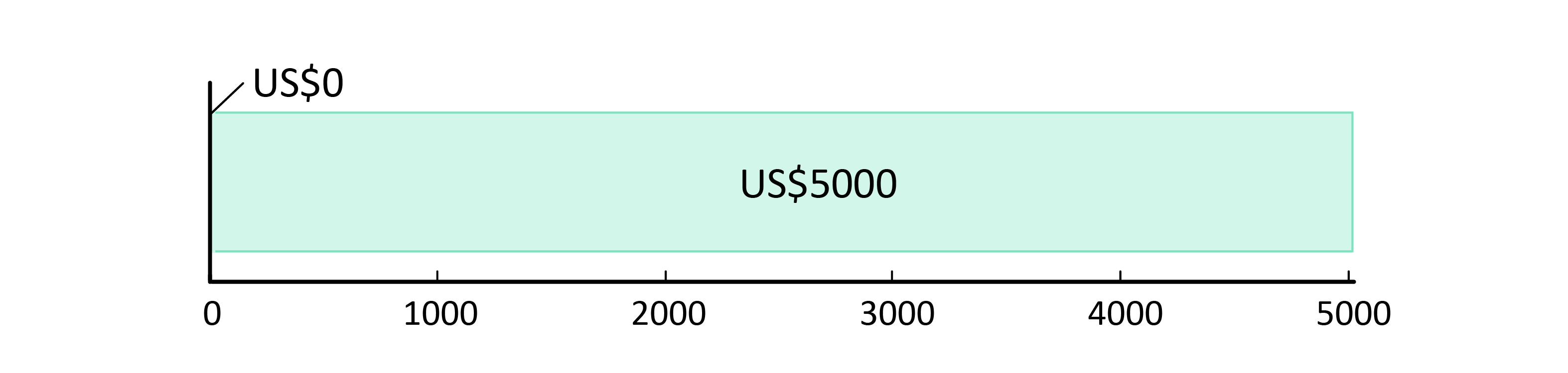 US$0 cheltuițit; US$5,000 rămași