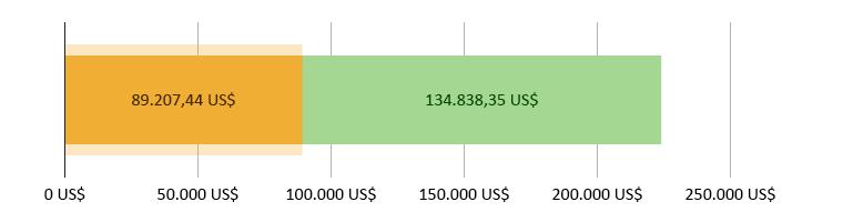 chi 89.207,44 US$; dư 134.838,35 US$
