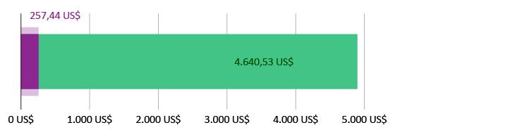 257,44 US$ ausgegeben; 4.640,53 US$ übrig