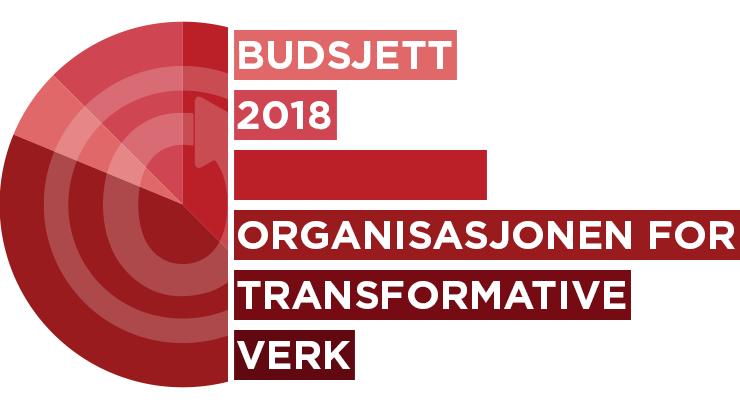 Organisasjonen for transformative verk: budsjett for 2018