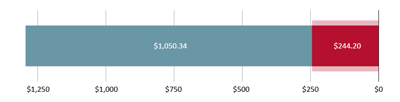 تم صرف 244.20 دولار أمريكي؛ تبقّى 1,050.34 دولار أمريكي