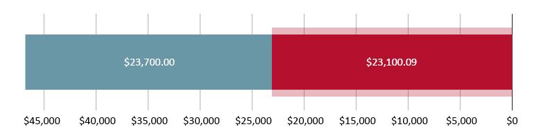 הוצאו $23,100.09; נשארו $23,700