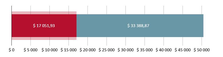 $ 17 051,93 brukt; $ 33 388,97 igjen