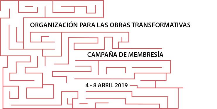 Campaña de membresía de la Organización para las Obras Transformativas, del 4 al 8 de abril, 2019