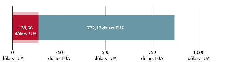139,66 dòlars EUA gastats; 732,17 restants