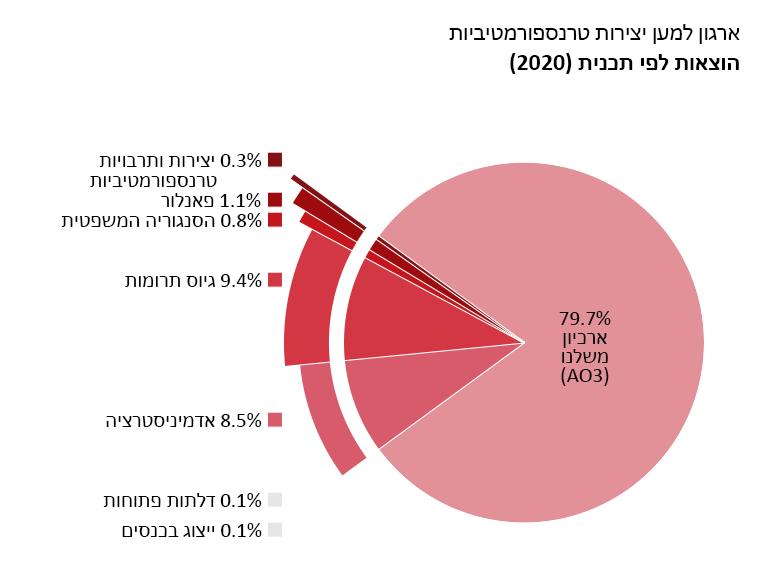 הוצאות לפי תוכנית: ארכיון משלנו: 79.7%. דלתות פתוחות: 0.1%. יצירות ותרבויות טרנספורמטיביות: 0.3%. פאנלור: 1.1%. הסנגוריה המשפטית: 0.8%. ייצוג בכנסים: 0.1%. אדמיניסטרציה: 8.5%. גיוס תרומות: 9.4%.