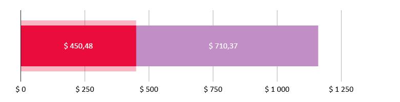 $ 450,48 сарпталды; $ 710,37 калды