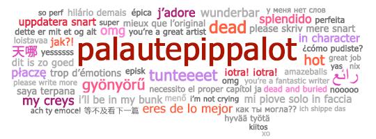 Palautepippaloiden puhekupla monikielisillä palautefraaseilla
