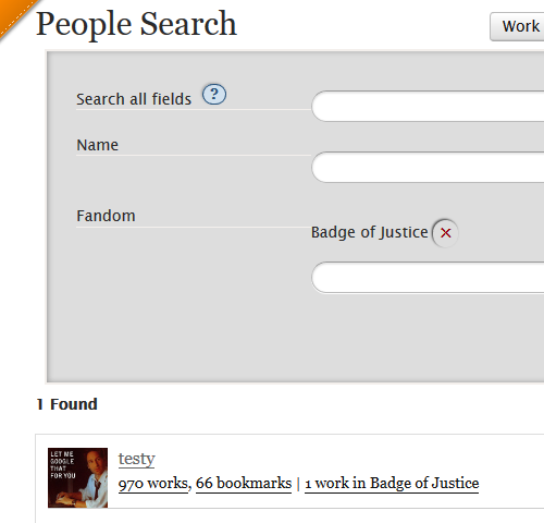 Preview of the new people search.