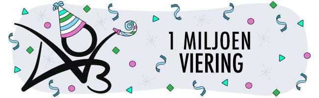 Een miljoen gebruikers viering