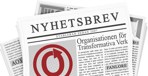 Banner av catie som föreställer en tidning med namn och logga för OTW och dess projekt på sidorna