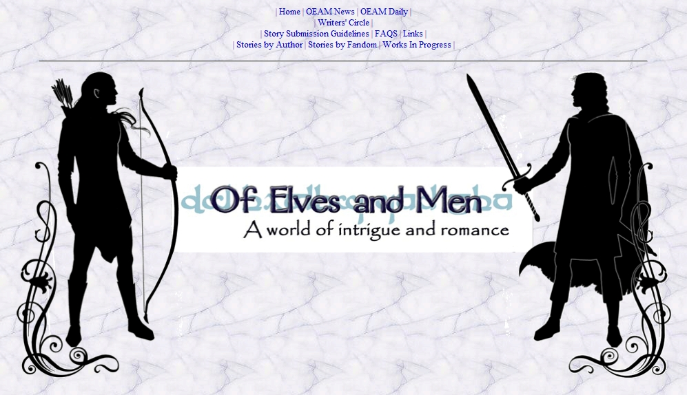 Of Elves and Men: A world of intrigue and romance.