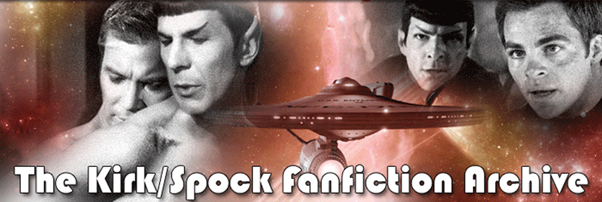 Kirk and Spock and the Enterprise